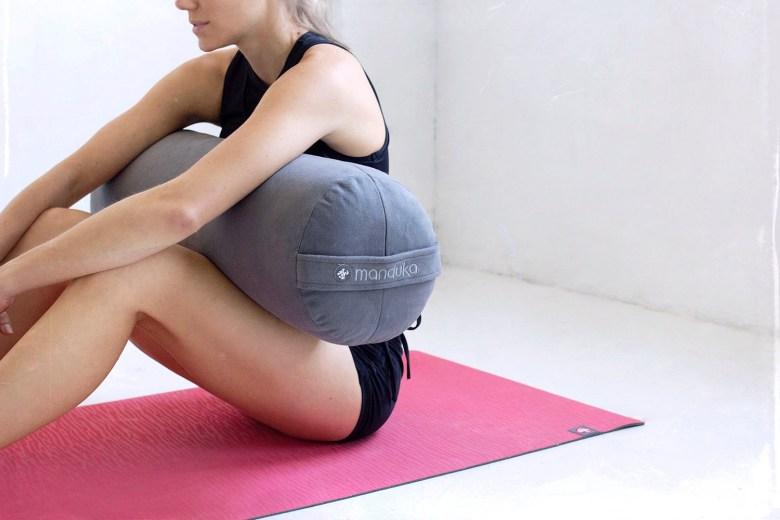 manduka eko lite and manduka bolster at home yoga studio props
