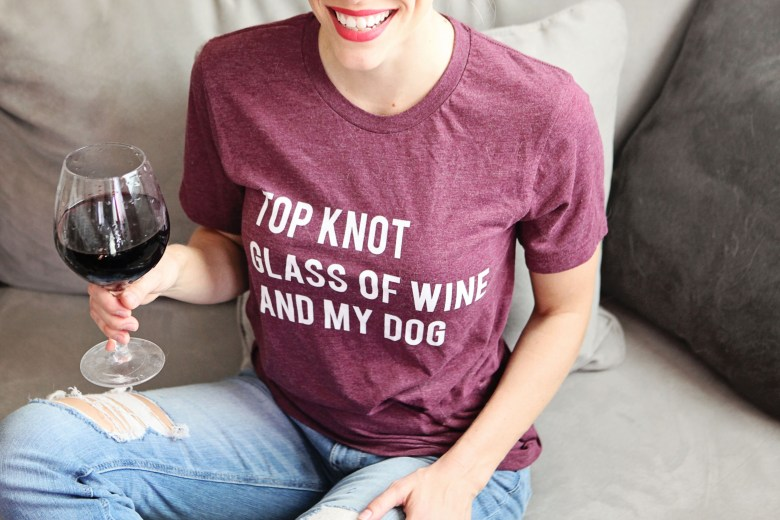 wine dog t-shirt