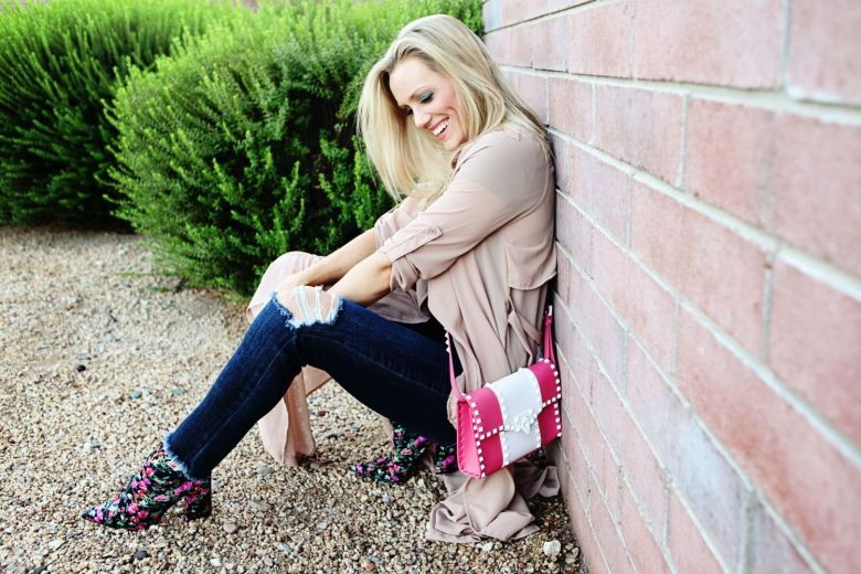 pink valentino rockstud purse