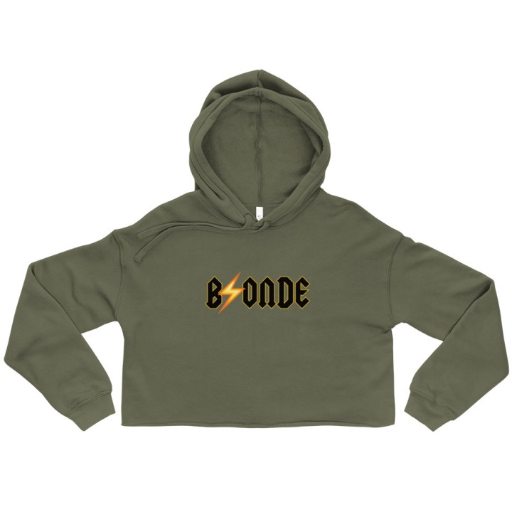 army green crop sweatshirt