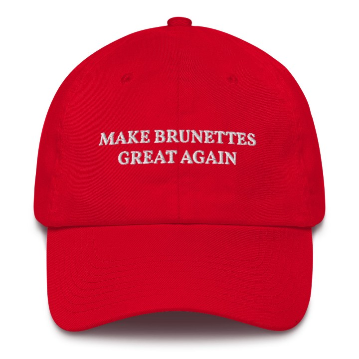 make brunettes great again dad cap