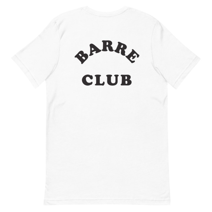 barre club crop tee back