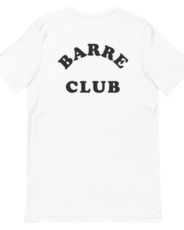 barre club crop tee back
