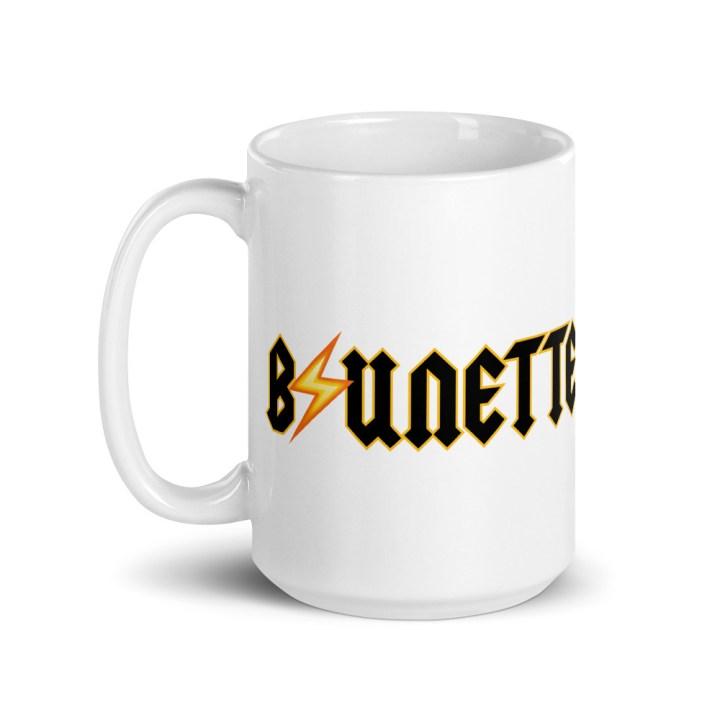 brunette coffee mug tall 15 oz