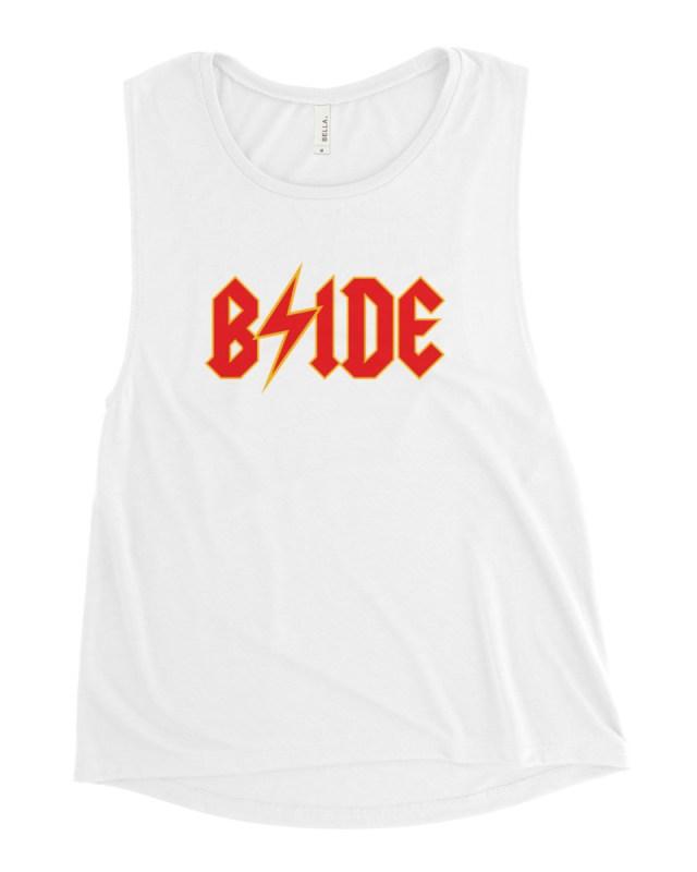 bride bolt graphic tank white