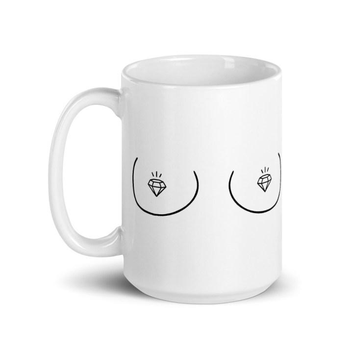 bride to be boob coffee mug tall 15 oz