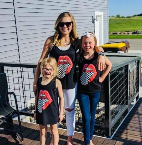 matching race day tank tops