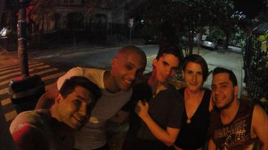 went to have Açaí ice cream with Francisco and his friends, he was my couchsurfing host in Jerusalem 5 years ago