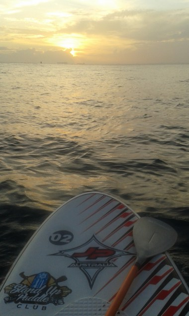 nothing better than paddling into the sunset