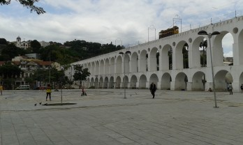 The arches of Lapa, an aqueduct that was later used for tram rails. The residents of Santa Teresa protested until the Tram got back into use this year.
