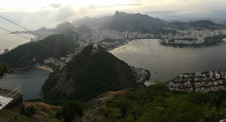 Cristo Redentor and Copacabana seen from the top