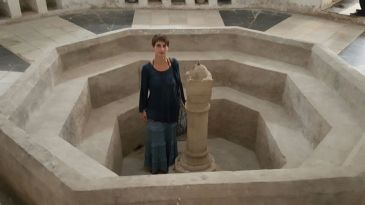 In the hammam built by Sultan Bargash in 1880. It was a relaxing place for rich people.