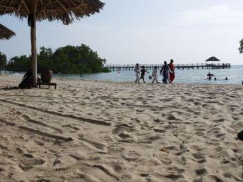 Karate students at Mbweni beach
