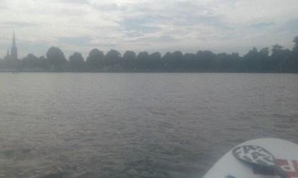 Stand up board in lake Wakenitz