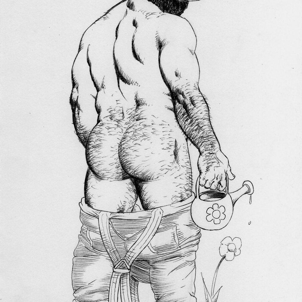 Bruno's deft touch with brutal masculine bodies in tender scenarios