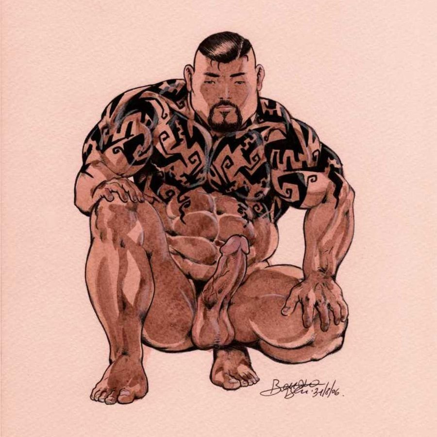 Bruno's asian tattooed bodybuilders are art on art