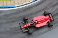 Alain Prost, Ferrari 643. Tameo Kit & Denizen figure, built by Bad Wolf Miniatures