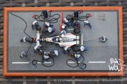 Australian Grand Prix 1994 - Pit-stop diorama. Kit by Tameo, figures by Denizen Miniatures. Built by Bad Wolf Miniatures.