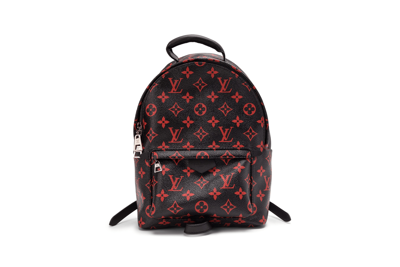 Louis Vuitton Palms Springs Backpack Black Red