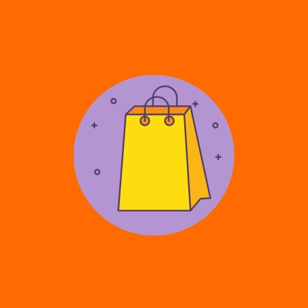 cartoon shopping bag