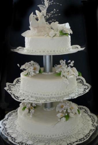 Austen-Hochzeitstorte weis