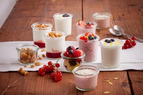 Joghurt und Müesli