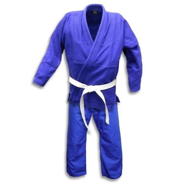 Blue Jiu Jitsu Uniform (Blue/White/Black)