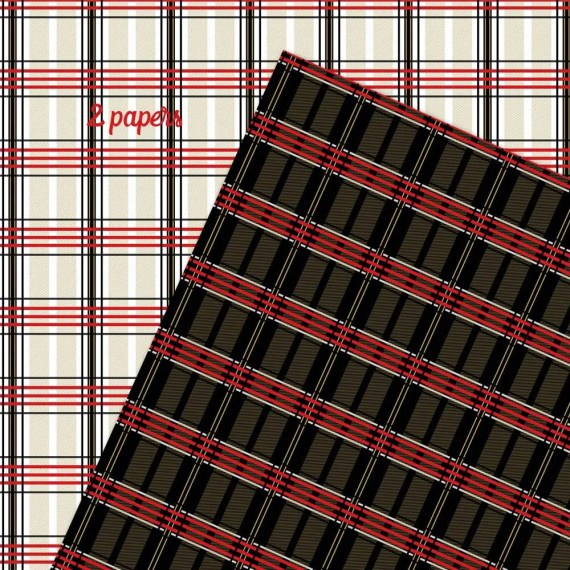 Red Black and Gold Plaid Backgrounds