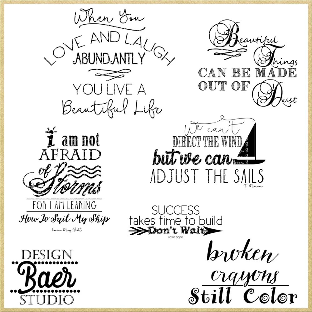 Positive Thoughts Quotes Scrapbooking Quotes 16158 Baer Design