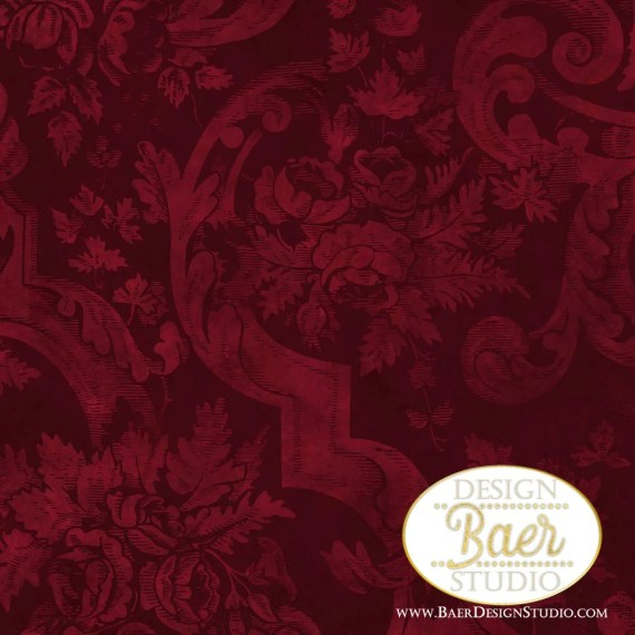 Burgundy Floral Digital Paper