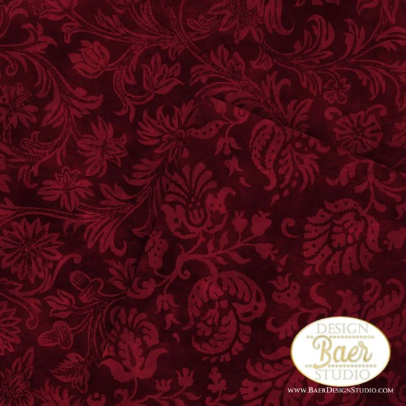 Burgundy Damask Digital Paper