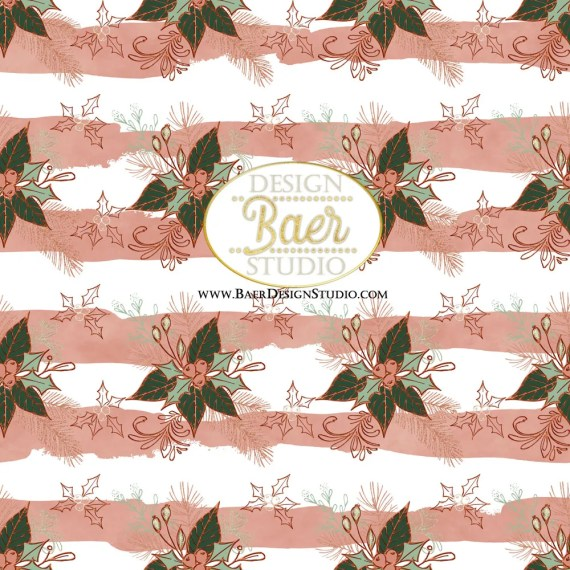 Rose Gold Christmas Paper