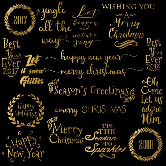 Gold Foil Word Art