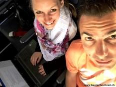 ...im Flugzeug...
