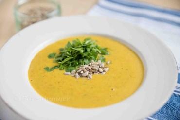Karotten Kokos Curry Suppe
