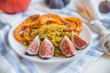 Quinoa Salat mit Kürbis und Feigen