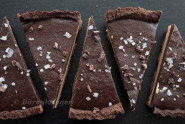 Schokoladen Karamell Tarte