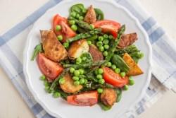 Spargel Salat mit Tomaten