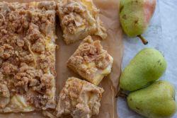 Birnen Käsekuchen mit Streusel