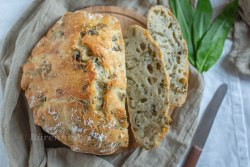 Bärlauch no knead bread