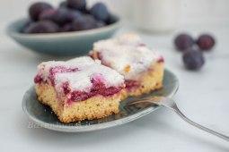 Vanille Zwetschgen Kuchen mit Kokosstreusel