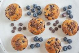 Schokoladen Heidelbeer Muffins