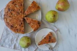 Birnen Schoko Mandelkuchen