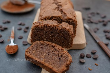 Schokoladen Mandel Kastenkuchen ohne Mehl