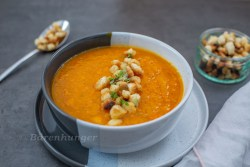 Kürbis Süsskartoffel Suppe mit Orange