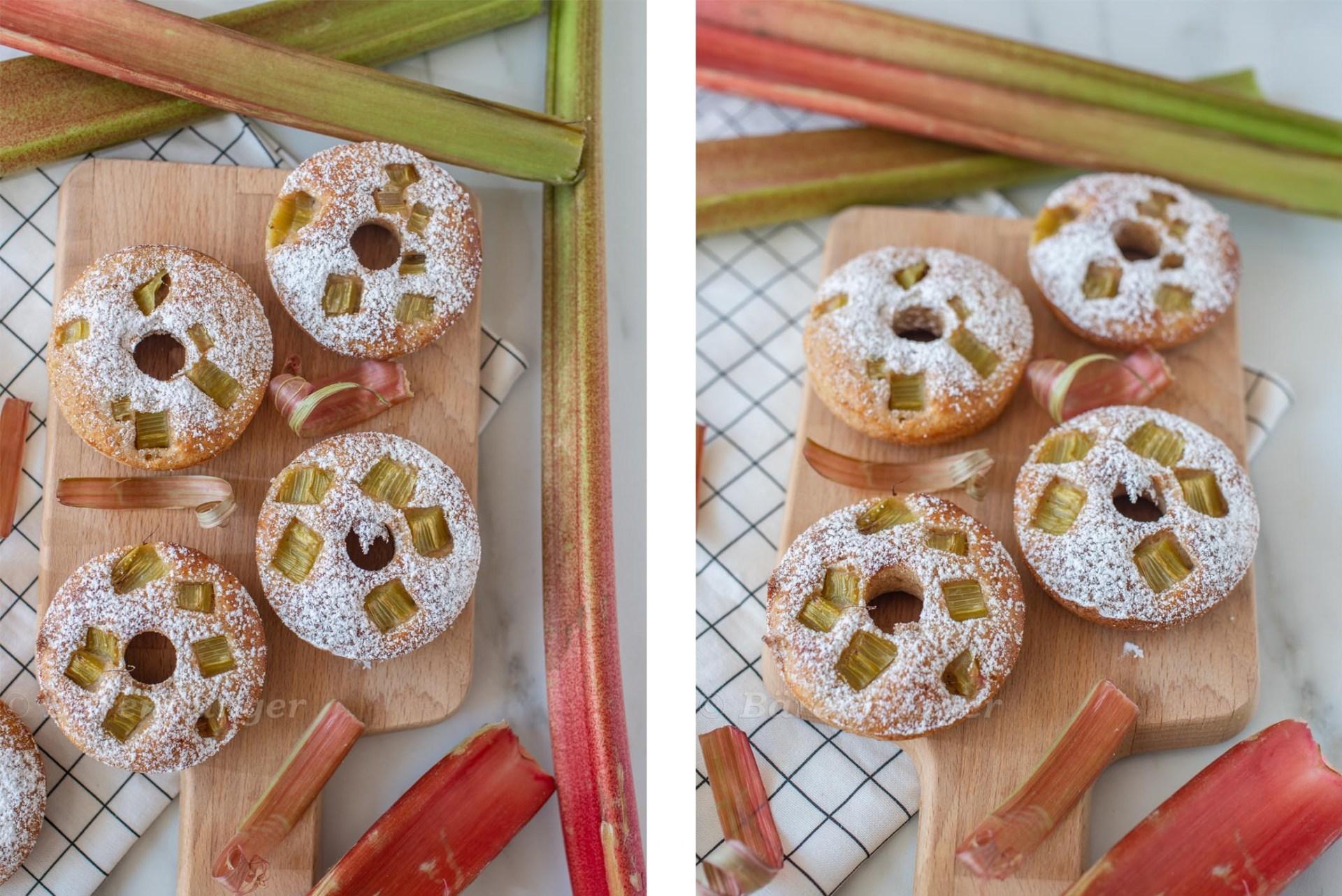 Rhabarber Vanille Donuts