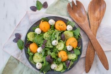 Melonen Mozzarella Salat mit Thymian