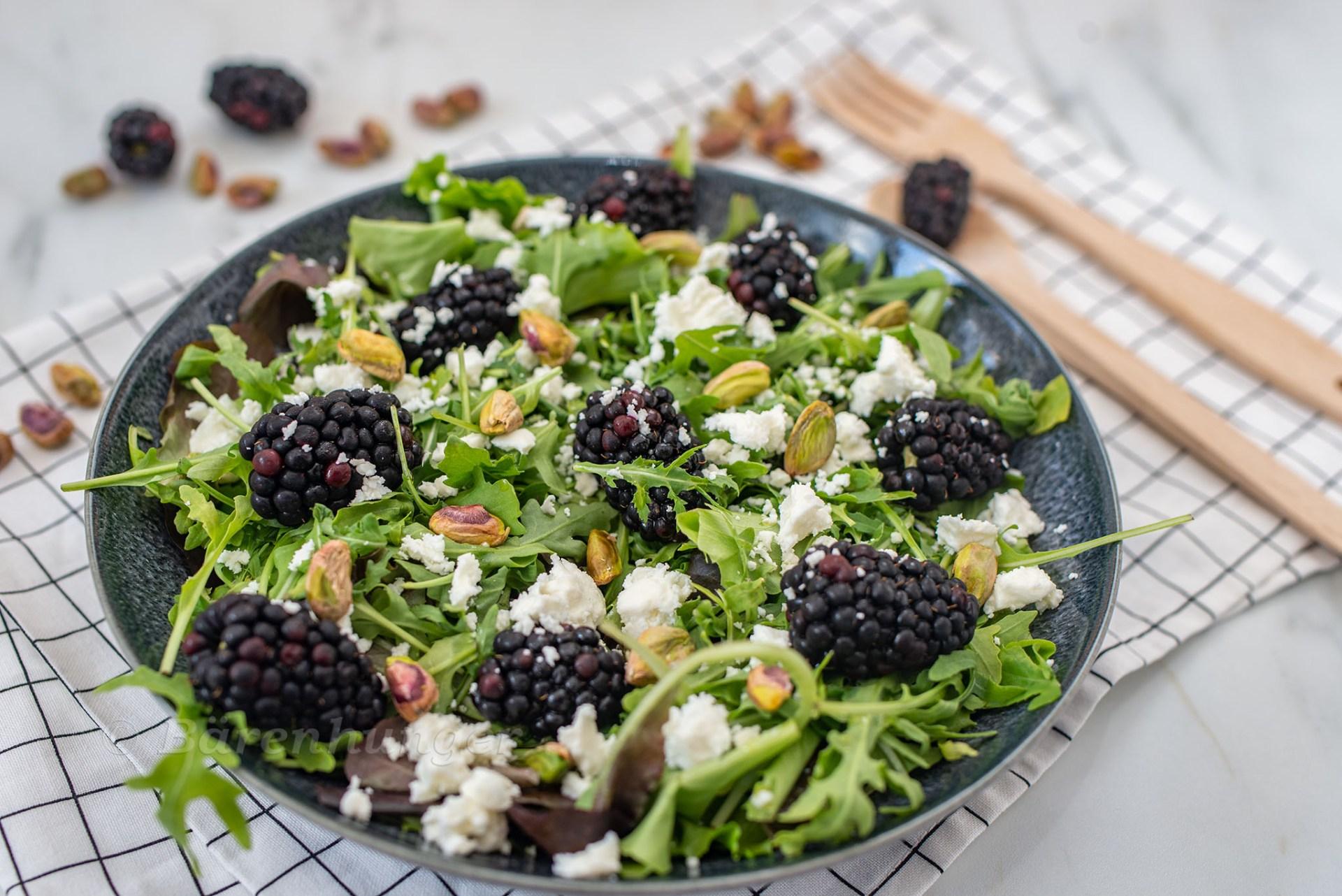 Brombeer Ziegenkäse Salat