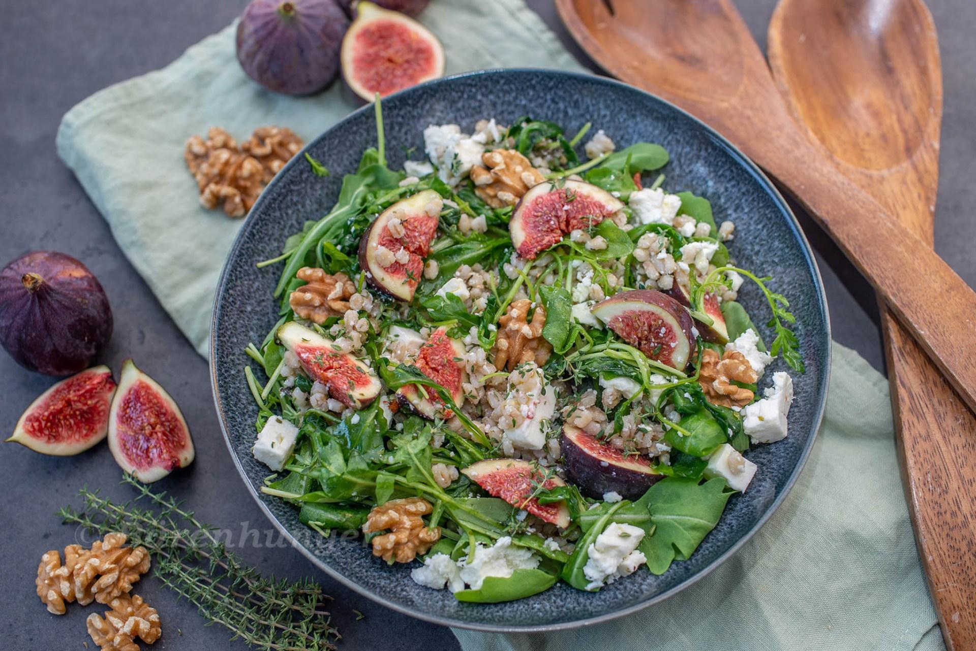 Feigen Graupen Salat