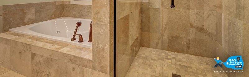 how to build tile shower pan floor